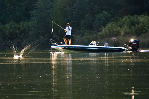 Man Fishing at Keowee Key