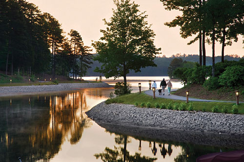 Leisure Trail at Keowee Key at Sunset